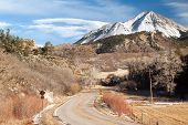 foto of dike  - West Spanish Peak from Highway 12 on the Highway of Legends Scenic Byway - JPG