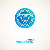 image of kundalini  - Vector illustration of Color chakra watercolor design - JPG