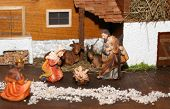 pic of nativity scene  - statues of the Nativity scene with Holy family traditional Neapolitan style - JPG