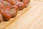 foto of filbert  - Bunch of hazelnuts - JPG