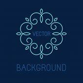 picture of monogram  - Vectot line logo design element  - JPG