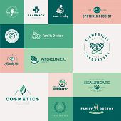 foto of biomedical  - Set of vector icons on the theme of healthcare - JPG