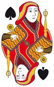 image of spade  - Queen of spades without playing card background - JPG