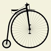 stock photo of penny-farthing  - Antique Old Penny - JPG