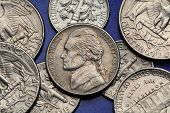 stock photo of coins  - Coins of USA - JPG