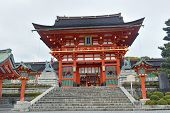 stock photo of dory  - Richly colored Fushimi Inari Taisha Shrine - JPG