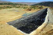stock photo of damme  - Big damm near Yalvac in south Turkey - JPG