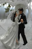Dancing Bride & Groom Wedding Cake Topper poster