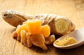 image of home remedy  - Three kinds of ginger  - JPG