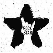 stock photo of hard-on  - hard rock graphic design  - JPG