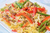 image of mung beans  - Beef stir - JPG