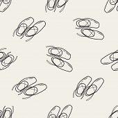 picture of ballet shoes  - Ballet Shoes Doodle - JPG