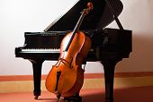 pic of violin  - Classical music concept - JPG