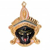 foto of kali  - Closeup of Himdu pendent isolated on white background - JPG