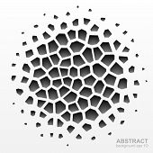 foto of grayscale  - Abstract grayscale geometric pattern - JPG
