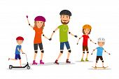 foto of roller-skating  - Sports family - JPG
