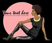 picture of leggins  - Portrait of beautiful black woman - JPG