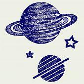 stock photo of saturn  - Planet Saturn - JPG