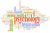 foto of psychological  - Psychology issues and concepts word cloud illustration - JPG