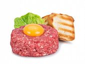image of tartar  - fresh beef tartar with egg - JPG