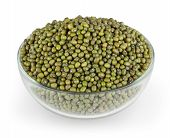 stock photo of mung beans  - Mung beans isolated on white background with clipping path - JPG