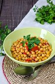 foto of chickpea  - Chickpea stew with vegetables - JPG