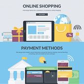 picture of payment methods  - Set of flat design vector banners for e - JPG
