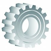 image of rework  - Various gear wheel rack wheel vector graphics - JPG