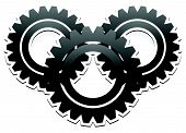 stock photo of gear wheels  - Various gear wheel rack wheel vector graphics - JPG