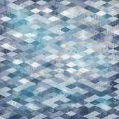 picture of parallelepiped  - Geometric background with grungy texture in gray tone - JPG