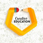 Creative Education Concept Illustration poster