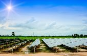 Постер, плакат: Solar Energy Green Solar Cells Solar Farms Energy Nature Sky