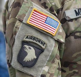 stock photo of screaming  - ACU SSI Velcro Patch  - JPG
