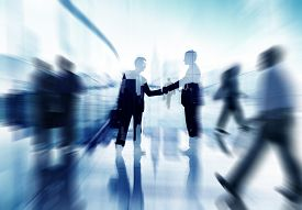 picture of handshake  - Handshake Partnership Agreement Business People Corporate City Concept - JPG