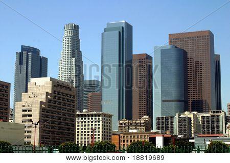 Постер, плакат: Лос Анджелес центр города, холст на подрамнике