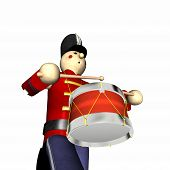 Christmas Toy Soldier - Red poster