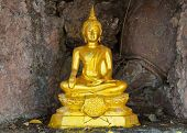 stock photo of glorify  - Songkran festival in Thailand people has to splash image of Buddha and pray to image of Buddha - JPG