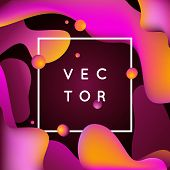 Vector Design Template And Illustration In Trendy Bright Gradient Colors poster