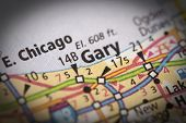 Gary, Indiana On Map poster