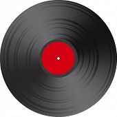 Blank Red Vector Vinyl record