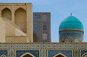stock photo of poi  - Poi Kalon Mosque Complex in Bukhara Republic of Uzbekistan - JPG