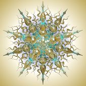 picture of dodecahedron  - three dimensional mandala - JPG