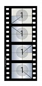 35 mm Motion Picture Film with countdown pattern and academy aperture. Exact replica of original 35