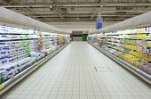 picture of grocery store  - Empty supermarket aisle - JPG
