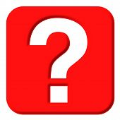 picture of question-mark  - Question Mark that is isolated in white - JPG