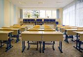 image of school building  - Empty class at school - JPG