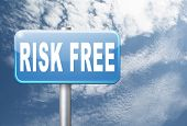 risk free satisfaction high product quality guaranteed safe investment web shop warranty no risks an poster