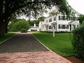 stock photo of martha  - Elegant Cape Cod home in Martha - JPG