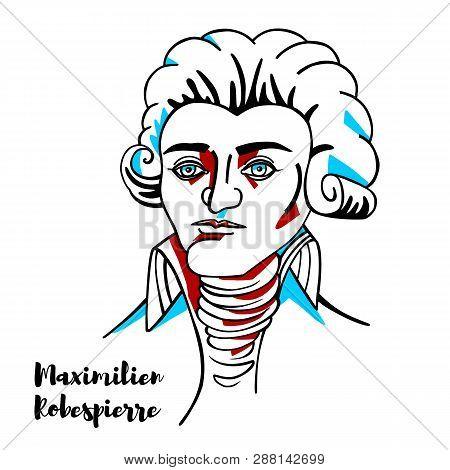 Maximilien Robespierre Engraved Vector Portrait