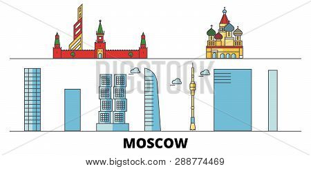 Russia Moscow City Flat Landmarks